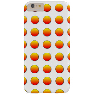 Orange Two Polka Dots Barely There iPhone 6 Plus Case