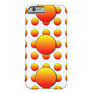 Orange Two Polka Dots in 3D iPhone 6 Case