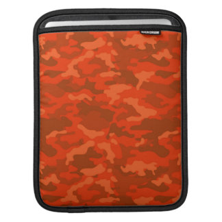 Orange Vintage Army Military Camo Camouflage iPad Sleeve