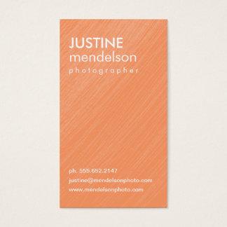 Orange Vintage Camera Photography Business Cards