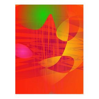 Orange Waves Postcard