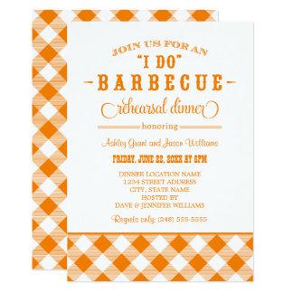 Orange Wedding Rehearsal Dinner | I Do BBQ Card