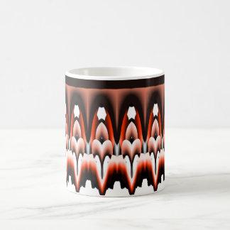 Orange White and Black Design Basic White Mug