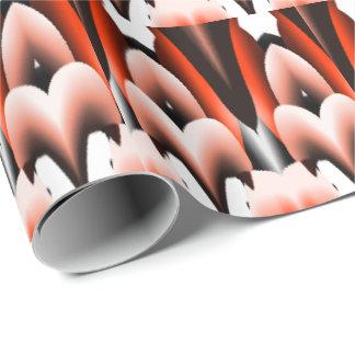 Orange White and Black Design Wrapping Paper