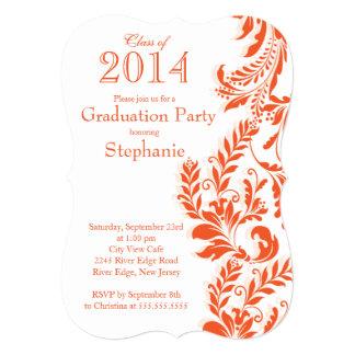 Orange White Class of 2014 Graduation Party Card