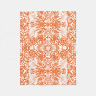 orange white fleece blanket