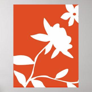 Orange & White Flower Poster