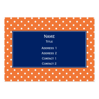 Orange, White Polka Dot with Royal Blue Pack Of Chubby Business Cards