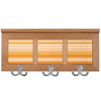Orange White Yellow Pink Stripe Pattern Coat Racks