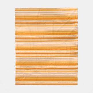 Orange White Yellow Pink Stripe Pattern Fleece Blanket