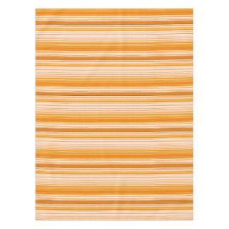 Orange White Yellow Pink Stripe Pattern Tablecloth