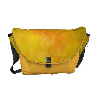 Orange Wildflower Glow Messenger Bag