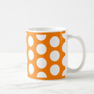 Orange with White Polka Dots Coffee Mugs