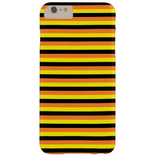 Orange, Yellow and Black Stripes Barely There iPhone 6 Plus Case