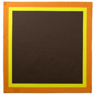 Orange Yellow and Dark Chocolate Napkins