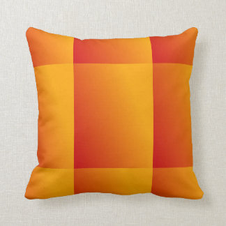 Orange Yellow and Red Gradient Pattern Pillow