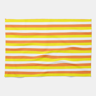 Orange, Yellow and White Stripes Hand Towels
