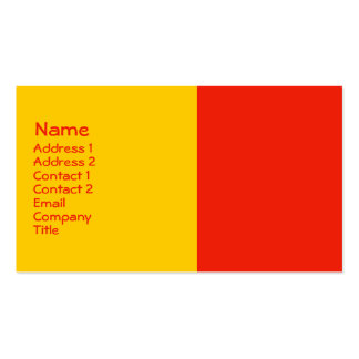 orange yellow business cards