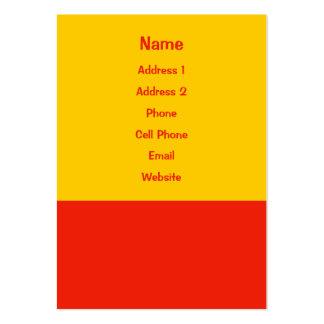 orange yellow business card template