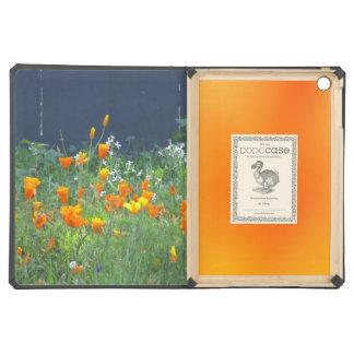 Orange Yellow California Poppies iPad Air Covers