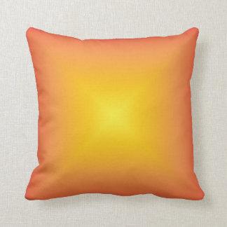 Orange yellow color harmony throw pillows