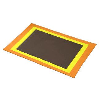 Orange Yellow Dark Brown Placemat