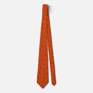 Orange Yellow Floral Color Burst Tie