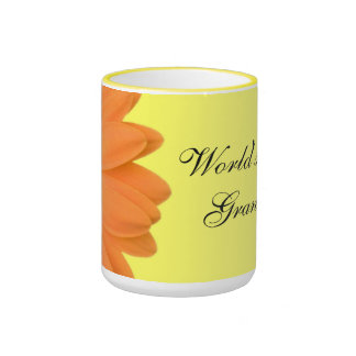 Orange & Yellow Gerber Daisy World's Best Grandma Ringer Mug