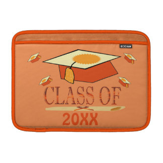 Orange Yellow Graduation Hat Class of Year MacBook Sleeve