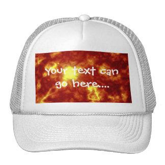 Orange Yellow Mesh Hat