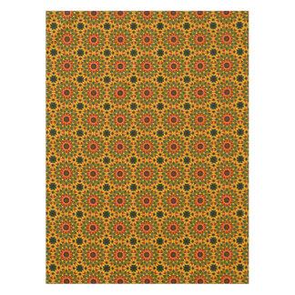 Orange Yellow Iris Nature, Flower-Mandala Tablecloth