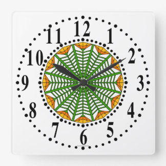 Orange-yellow / Lemon-yellow Floral 424 Wall Clock