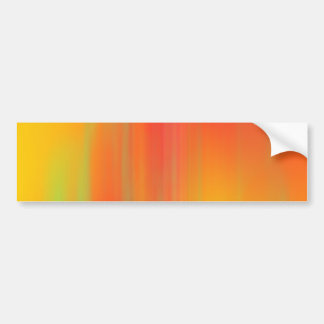 Orange & Yellow Motion Blur: Bumper Stickers