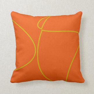 Orange Yellow pattern decorative cushion