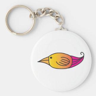 Orange, Yellow, Pink Bird Keychains