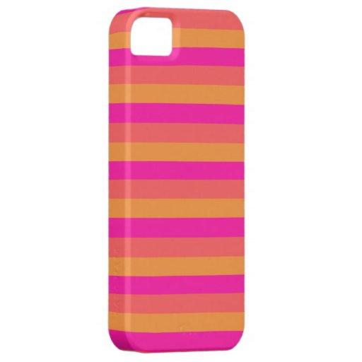 orange yellow pink stripes iPhone 5 case