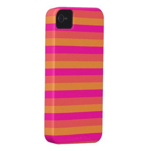 orange yellow pink stripes Case-Mate iPhone 4 case