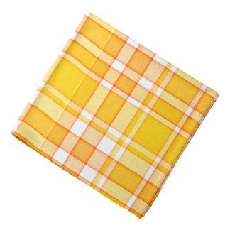 Orange Yellow Plaid Tartan Bandana