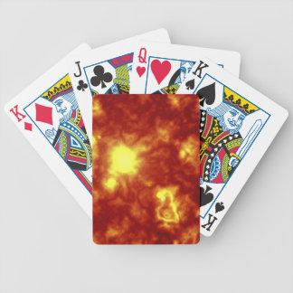 Orange & Yellow Bicycle Poker Cards