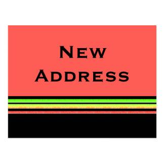 orange yellow stripes New Address Postcard