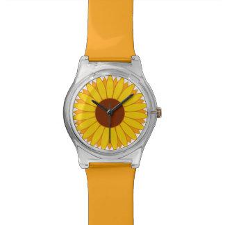 Orange & Yellow Sunflower Daisy Flower Watch Watches