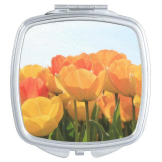 Orange yellow tulips by Thespringgarden Makeup Mirror