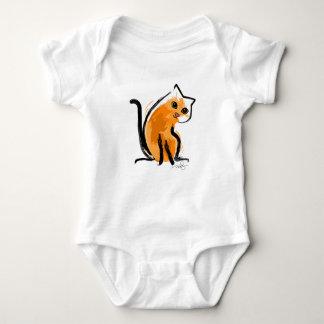 Orange You A Cat Baby Bodysuit