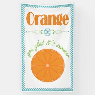 Orange You Glad its Summer with Lattice Border