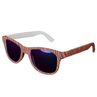 Orange Zebra Stripes Sunglasses