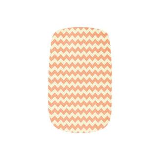Orange Zig Zag Minx Nail Art