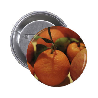 Oranges apples fruit on a table pinback buttons