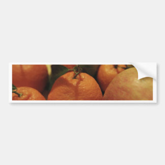 Oranges apples fruit on a table bumper stickers