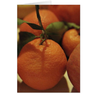 Oranges apples fruit on a table greeting card