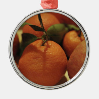 Oranges apples fruit on a table christmas ornament